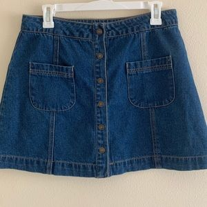 Forever 21 Denim Button-Up Skirt